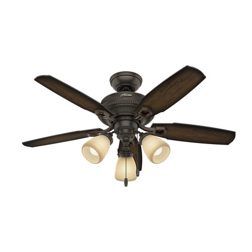 Hunter 52233 44 in. Ambrose Onyx Bengal Indoor Ceiling Fan