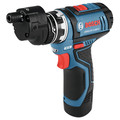 Bosch GSR12V-140FCB22 12V Max Lithium-Ion FlexiClick 5-in-1 1/4 in. Cordless Drill Driver System Kit (2 Ah) image number 10