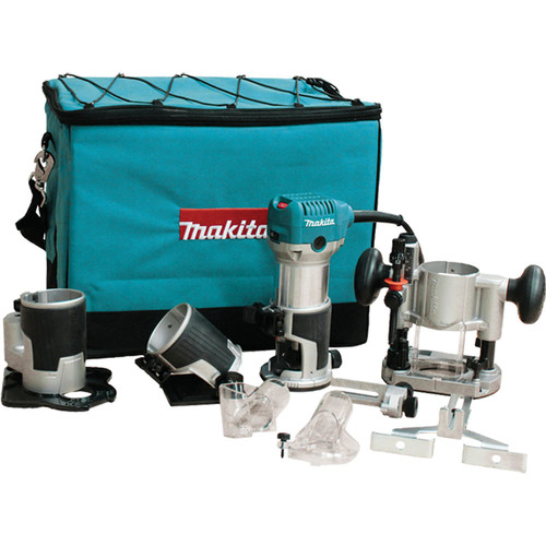 Makita RT0701CX3 1-1/4 HP Compact Router Kit with Attachments