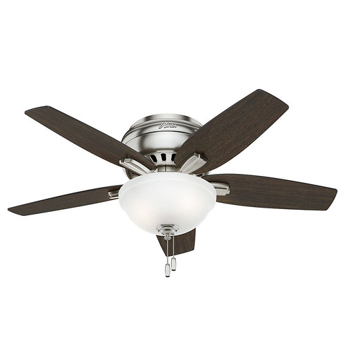 Hunter 51082 42 in. Newsome Brushed Nickel Ceiling Fan with Light
