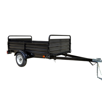 Detail K2 MMT5X7 5 ft. x 7 ft. Multi Purpose Utility Trailer (Black powder-coated)
