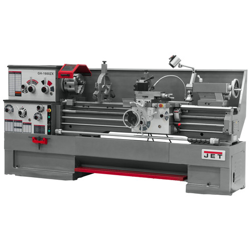 JET GH-1860ZX Lathe with 2-Axis ACU-RITE DRO 200S and Taper Attachment Installed