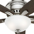 Hunter 51082 42 in. Newsome Brushed Nickel Ceiling Fan with Light image number 4