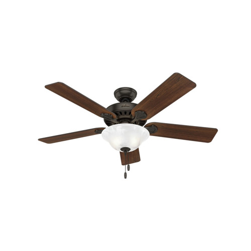 Hunter 53041 52 in. Buchanan Premier Bronze Ceiling Fan with Light