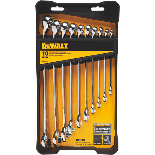 Dewalt DWMT72167 10 Pc MechanicsCombination SAE Wrench Set image number 1