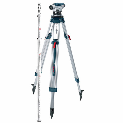 Bosch GOL26CK 26X Zoom Optical Level Kit with Tripod and Rod