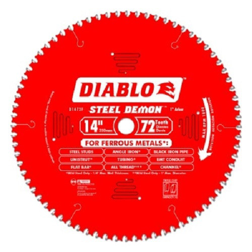 Diablo D1472CF 14 in. 72 Tooth Steel Demon Ferrous Metal Saw Blade