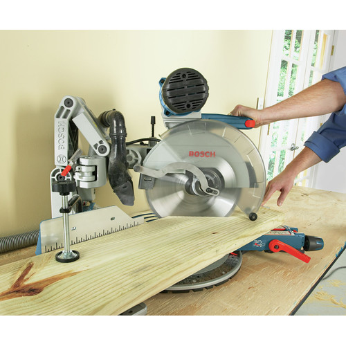 Factory Reconditioned Bosch GCM12SD-RT 12 in. Dual-Bevel Glide Miter Saw image number 17