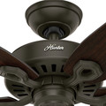 Hunter 53292 52 in. Builder Elite Damp New Bronze Ceiling Fan image number 7