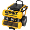 Factory Reconditioned Dewalt D55154R 1.1 HP 4 Gallon Oil-Lube Wheeled Dolly-Style Air Compressor with Control Panel