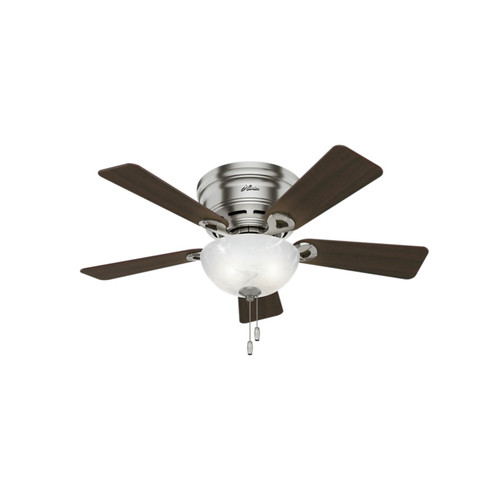 Hunter 52139 42 in. Haskell Brushed Nickel Ceiling Fan with Light