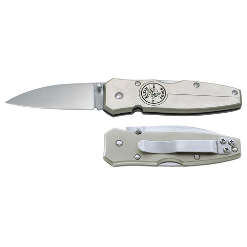 Klein Tools 44001 Lockback Pocket Knife, 2 1/2 in Stainless Steel Blade; Lockback Pocket Knife, 2 1/2 in Stainless Steel Drop-Point Blade