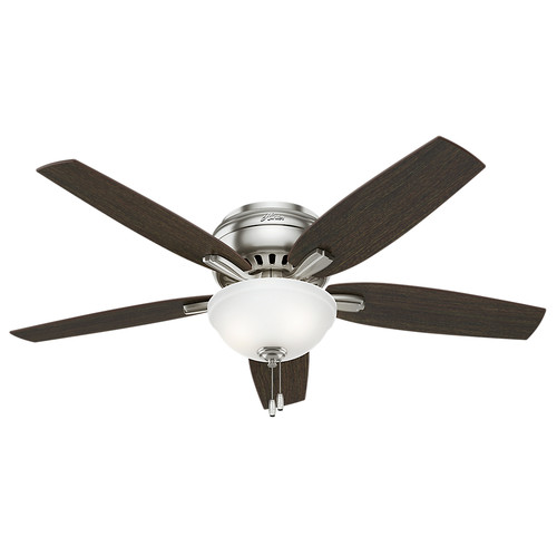 Hunter 53315 52 in. Newsome Brushed Nickel Ceiling Fan with Light
