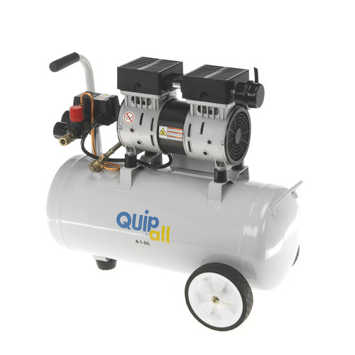 Quipall 6-1-SIL Oil Free Silent Compressor, 1.0 HP, 6.3 Gallon, Steel Tank image number 0