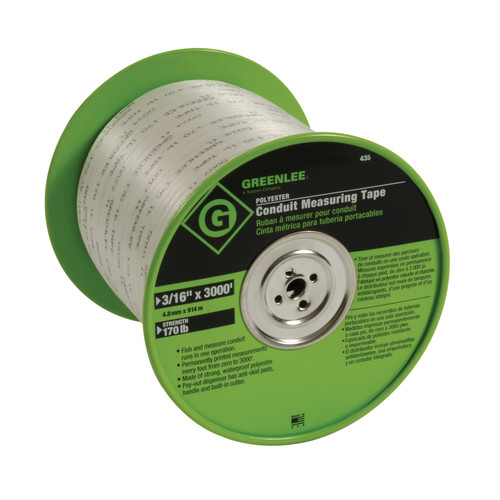 Greenlee 435 3/16 in. x 3,000 in. Polyester Conduit Measuring Tape