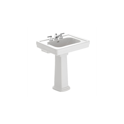 TOTO LPT530.8N#01 Promenade Pedestal Vitreous China 27.5 in. x 22.25 in. Rectangular Bathroom Sink (Cotton White)