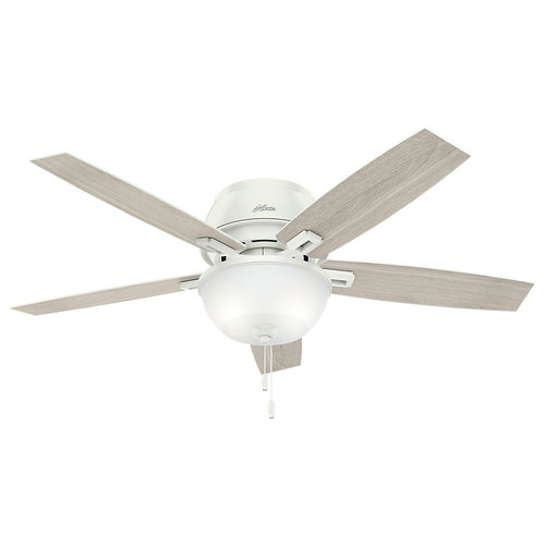 Hunter 53343 52 in. Donegan Fresh White Ceiling Fan with Light image number 0