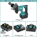 Makita XTU02T 18V LXT Lithium-Ion Brushless 1/2 in. Cordless Mixer Kit (5 Ah) image number 1