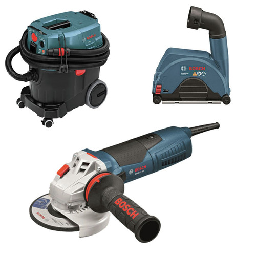 Bosch GWS13-50-OSHA 13 Amp 5 in. High-Performance Angle Grinder with Dust Collection System