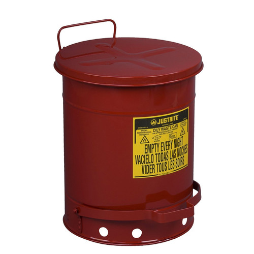 Justrite 9300 10-Gallon Oily Waste Can for General Use