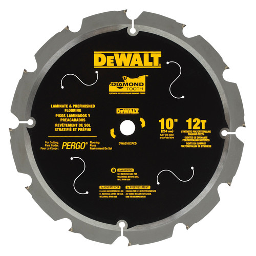 Dewalt Dwa31012pcd 10 In 12 Tooth Pcd Tipped Laminate