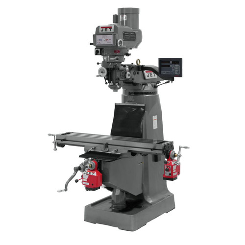 JET JTM-4VS Mill with 3-axis NEWALL DP700 DRO Quill X and Y Powerfeed image number 0