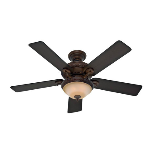 Hunter 53029 52 in. Vernazza Brushed Cocoa Ceiling Fan with Light