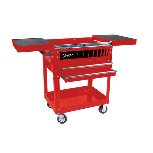 Sunex 8035R 450 lb. Capacity Compact Slide Top Utility Cart (Red) image number 0