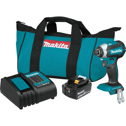 Makita XDT131 18V LXT Brushless Lithium-Ion 1/4 in. Cordless Impact Driver Kit (3 Ah) image number 0