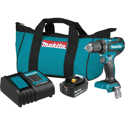 Makita XFD131 18V 3.0 Ah LXT Lithium-Ion Compact Brushless Cordless 1/2 in. Driver-Drill Kit