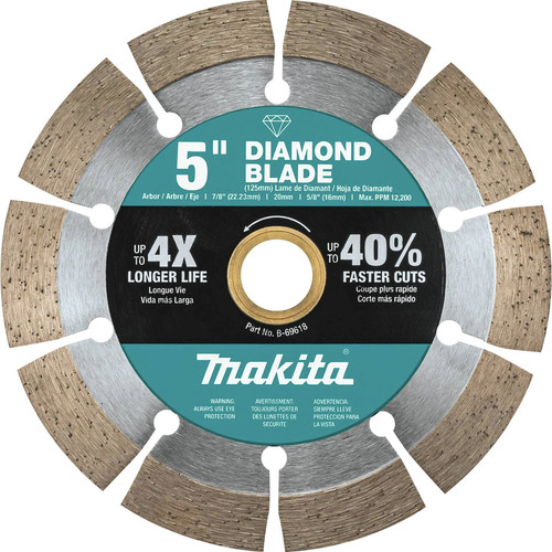 Makita B-69618 1-Piece General Purpose Segmented 5 in. Diamond Blade image number 0