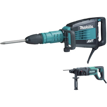 Makita HM1214CX 27 lb. AVT Demolition Hammer with Rotary Hammer image number 0