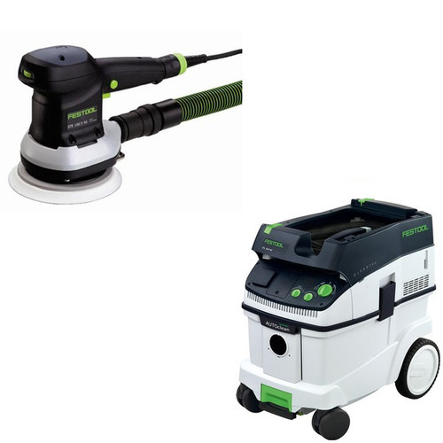 Festool ETS 150/3 EQ 6 in. Random Orbital Finish Sander with CT 36 AC AutoClean 9.5 Gallon Mobile Dust Extractor