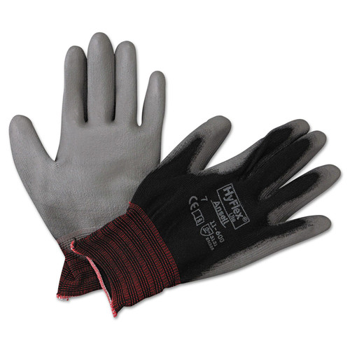 AnsellPro 103360 HyFlex Lite Gloves, Black/Gray, Size 7, 12 Pairs image number 0