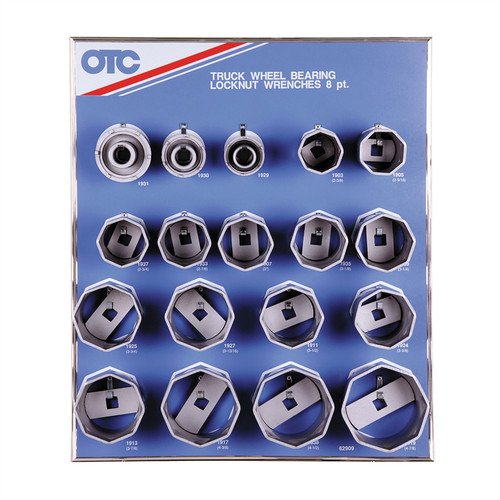 OTC Tools & Equipment 9851 8-Point Wheel Bearing Locknut Sockets with Tool Board image number 0