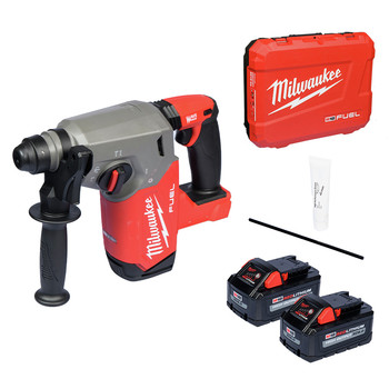 Milwaukee 2912-22 M18 FUEL Brushless Lithium-Ion 1 in. Cordless SDS Plus Rotary Hammer Kit (6 Ah)