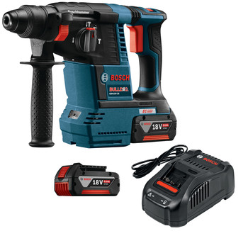 Factory Reconditioned Bosch GBH18V-26K-RT 18V 6.0 Ah EC Cordless Lithium-Ion Brushless 1 in. SDS-Plus Bulldog Rotary Hammer Kit image number 0