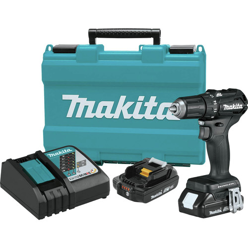 Makita XFD11RB 18V LXT 2.0 Ah Lithium-Ion Sub-Compact Brushless Cordless 1/2 in. Driver-Drill Kit