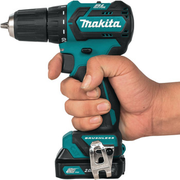 Makita FD07R1 12V max CXT Lithium-Ion Brushless 3/8 in. Cordless Drill Driver Kit (2 Ah) image number 6
