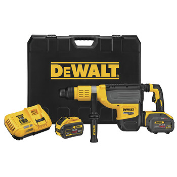 Dewalt DCH773Y2 FLEXVOLT 60V MAX 2 in. Cordless SDS MAX Combination Hammer Kit with (2) 12 Ah Li-Ion Batteries