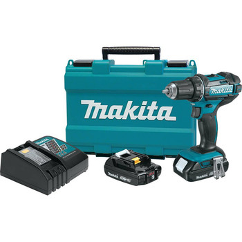 Makita XFD10R 18V LXT Lithium-Ion Compact 1/2 in. Cordless Drill Driver Kit (2 Ah) image number 0