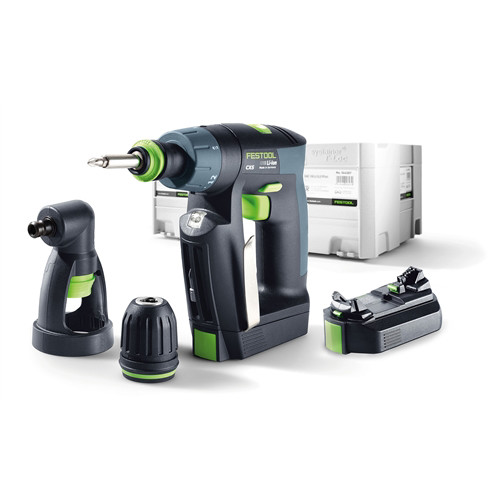 Festool CXS 10.8V 2.6 Ah Cordless Lithium-Ion 3/8 in. Right Angle Drill Driver