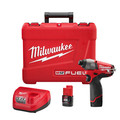 Milwaukee 2453-22 M12 12V FUEL Cordless Lithium-Ion 1/4 in. Hex Impact Driver Kit