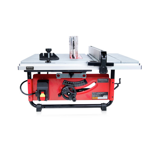 General International TS4003 10 in. Commercial Benchtop & Portable Table Saw image number 0