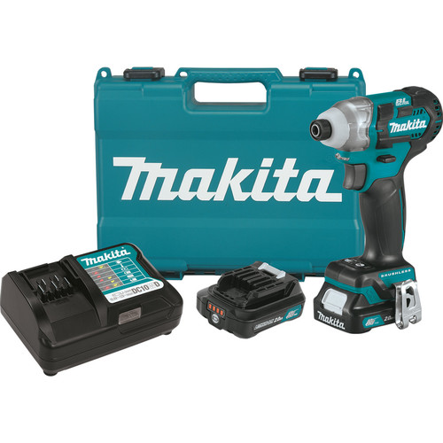Makita DT04R1 CXT 12V Cordless Lithium-Ion 1/4 in. Brushless Impact Driver Kit with (2) 2.0 Ah Batteries
