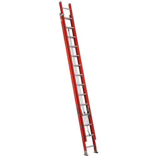 Louisville FE3228 28 ft. Type IA Duty Rating 300 lbs. Load Capacity Fiberglass Extension Ladder