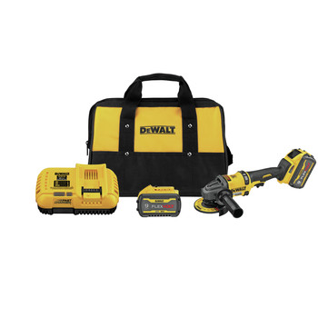 Dewalt DCG418X2 FLEXVOLT 60V MAX Brushless Lithium-Ion 4-1/2 in. - 6 in. Cordless Grinder Kit with Kickback Brake and (2) 9 Ah Batteries