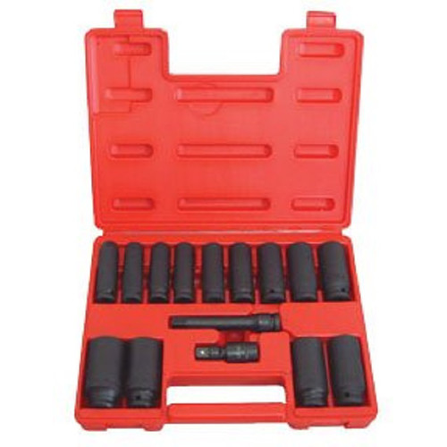 ATD 4450 15-Piece.1/2 in. SAE Deep Socket Impact Wrench Set