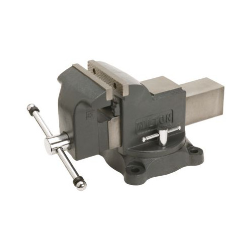 Wilton 63301 WS5, Shop Vise, 5 in. Jaw Width, 5 in. Jaw Opening, 3 in. Throat Depth
