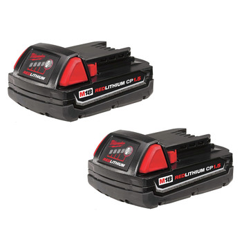 Milwaukee 48-11-1811 M18 REDLITHIUM CP 1.5 Ah Lithium-Ion Battery (2-Pack) image number 0